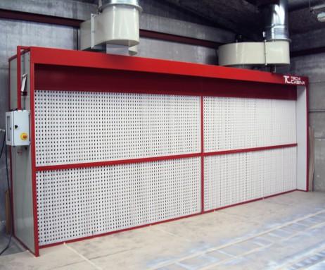 cabina muro pintura filtracion