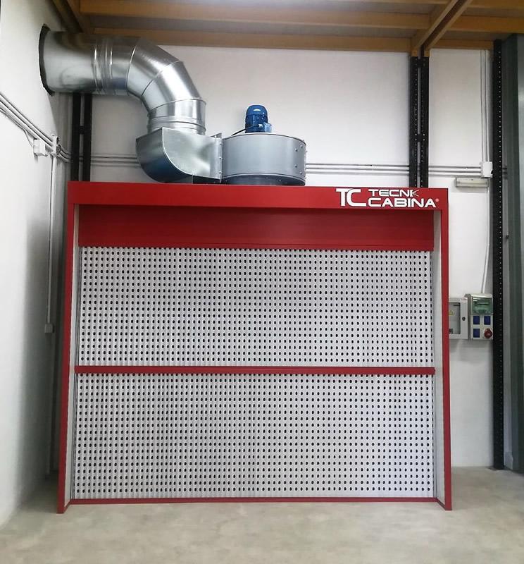 Cabina-Muro filtracion seca