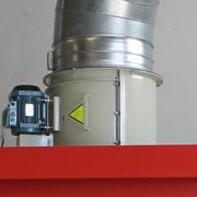 ventilador helocoidal cabina pintura